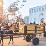 - مراجيح الأطفال التراثية شكلت معلما من معالم مهرجان جدة التاريخية (واس) -