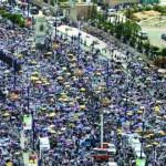 عشرات آلاف اليمنيين لدى مشاركتهم في مظاهرة