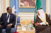 خادم الحرمين يبحث تطورات الأحداث بالمنطقة مع رئيس الصومال